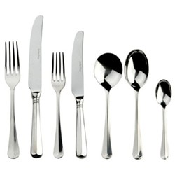 Rattail 7 piece place setting, sovereign stainless steel