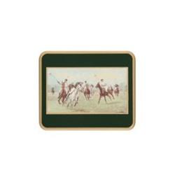 Traditional Range - Modern Polo Set of 6 coasters, 11 x 9cm, green