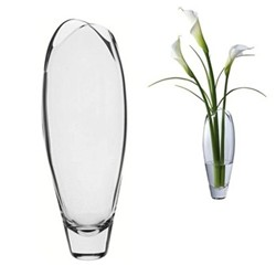Flora Vase, H39cm - tall, clear
