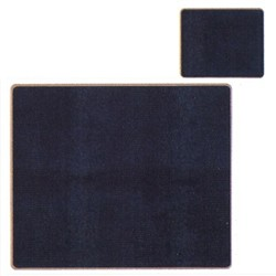 Texture Range - Lizard Set of 6 tablemats with frame line, 24 x 20cm, black