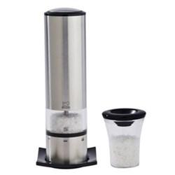 Elis Sense u' Select Electric salt mill, 20cm, brushed stainless steel finish