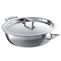 3 Ply Stainless Steel - Uncoated Shallow casserole, 30cm - 4.8 litre