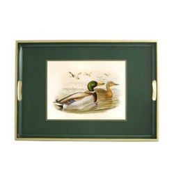 Traditional Range - Gould Ducks Traditional tray, 39.5 x 28cm, bottle green