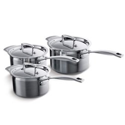 3 Ply Stainless Steel 3 piece saucepan set