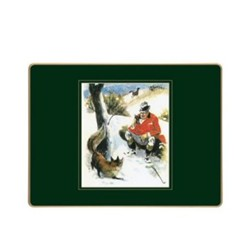 Traditional Range - Gilroy Country Sports Set of 4 placemats, 30 x 22cm, bottle green