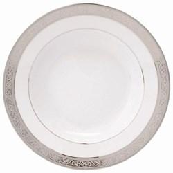 Royal Trianon Platinum Rim soup plate, 22cm