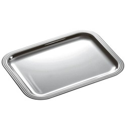 Albi Rectangular tray, 35 x 27cm, Christofle silver