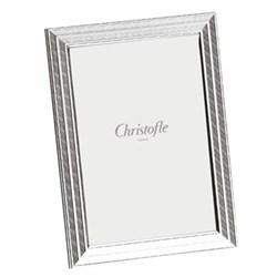 """Filets Photograph frame, 13 x 18cm (5 x 7""""), Christofle silver"""