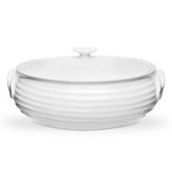Ceramics Small oval casserole, 1.75 litre, white
