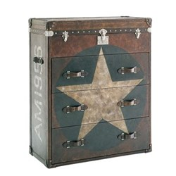 Star Chest of drawers, H120 x W100 x D46cm