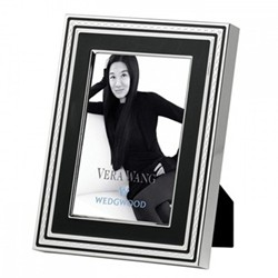 "Vera Wang - With Love Noir Photograph frame, 4 x 6"", silver plate"