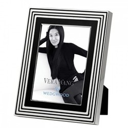 "Vera Wang - With Love Noir Photograph frame, 7 x 5"", silver plate"