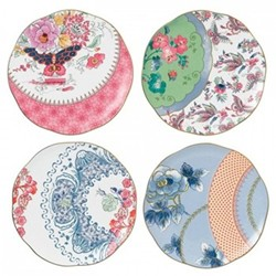 Harlequin Collection - Butterfly Bloom Set of 4 tea plates, 20cm