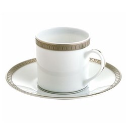Malmaison Demitasse cup and saucer, platinum