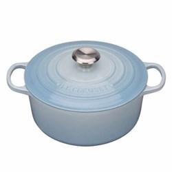 Signature Cast Iron Round casserole, 26cm - 5.3 litre, coastal blue