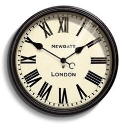 Battersby Wall clock, Dia50cm, black metal