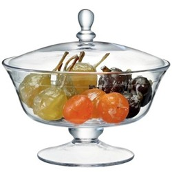Serve Comport and lid, H19.5cm, clear