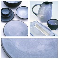 Tourron Pair of soup plates, 19cm, gris ecorce