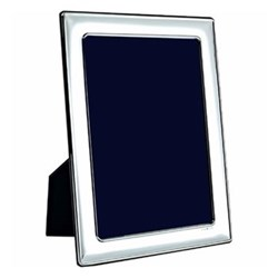 "Portland Series - Plain Photograph frame, 10 x 8"", sterling silver with mahogany finish back"