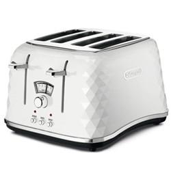 Brillante Toaster, 4 slot, white