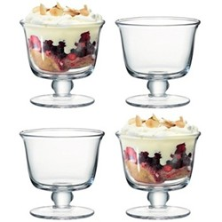 Serve Set of 4 tall dishes, 11.5cm, clear