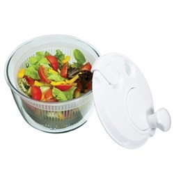Salad spinner, mini, white
