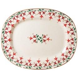 Fuchsia Oval platter, L44 x W35cm