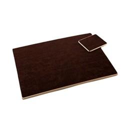 Texture Range - Croc Set of 6 coasters, 11 x 9cm, brown