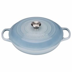 Signature Cast Iron Shallow casserole, 30cm - 3.2 litre, coastal blue