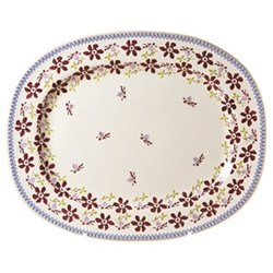 Clematis Oval platter, L44 x W35cm