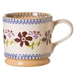 Clematis Set of 4 large mugs, H9cm