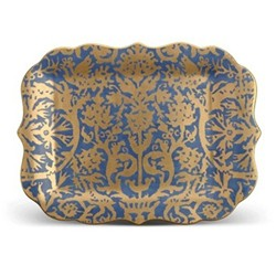 Fortuny Rectangular platter, 30 x 40cm, pergolesi blue