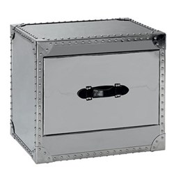 Howard Steel Side table, H51 x W59 x D44cm