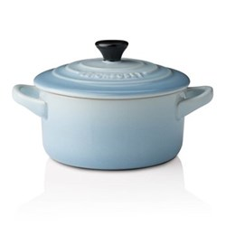 Stoneware Petite round casserole, 9cm - 250ml, coastal blue
