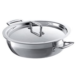 3 Ply Stainless Steel - Uncoated Shallow casserole, 24cm - 2.3 litre