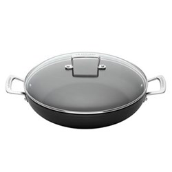 Toughened Non-Stick Shallow casserole with glass lid, 24cm - 2.3 litre