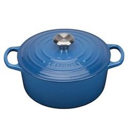 Signature Cast Iron Round casserole, 20cm - 2.4 litre, marseille