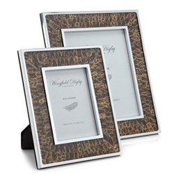 "Feather and Glass Photograph frame, 7 x 5"", hen pheasant"