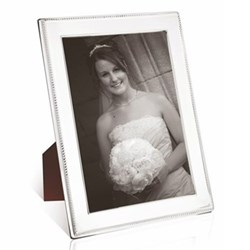 "W Series - Rope Photograph frame, 8 x 6"", sterling silver with mahogany finish back"