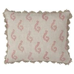 Shalini Linen cushion, 45 x 35cm, red
