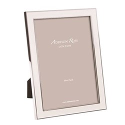 """Enamel Range Photograph frame, 8 x 10"""" with 15mm border, white with silver plate"""