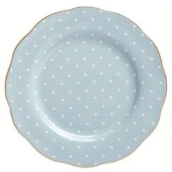 Polka Blue - Vintage Plate, 20cm