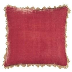 Velvet cushion, 45 x 45cm, rose