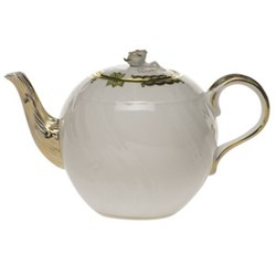 Princess Victoria Teapot with rose handle, 1.25 litre, green