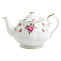 New Country Roses - Vintage Teapot, 1.25 litre, white