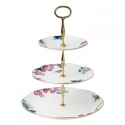 Harlequin Collection - Butterfly Bloom 3 tier cake stand