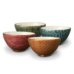 Fortuny Set of 4 cereal bowls, 14cm, assorted colours