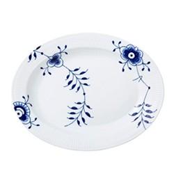 Blue Fluted Mega Oval dish, 36.5cm