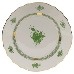 Apponyi Dinner plate, 25.5 x 2.5cm, green