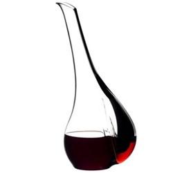 Black Tie - Smile Decanter, H36.5 x D16.5cm - 1.41 litre, black and red